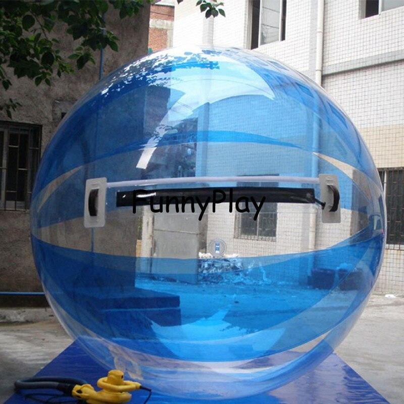 2M blau Wasser zu fuß Ball, Aufblasbare Wasser auf Ball, klar Spaziergang auf Wasser Luftballons Zorbing Huma festival tanzen bälle für zeigen
