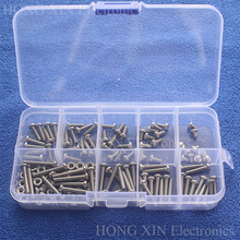 180pcs M3*4/6/8/10/12/14/16/18/20mm 304Stainless Steel Button Head Bolts Socket Screws With Hex Nuts Assortment Kit screw 340pcs assorted stainless steel m3 screw 5 6 8 10 12 14 16 18 20mm with hex nuts bolt cap socket set