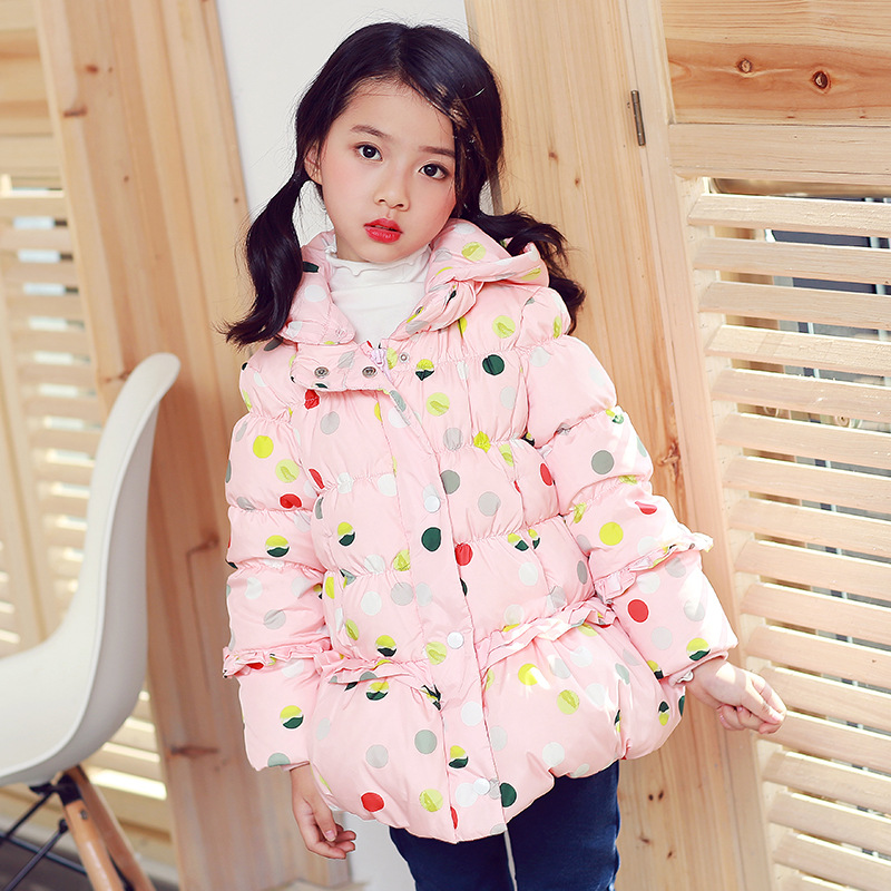 Children's Outerwear Girl Winter Warm Hooded Coat 2017 Baby Girls Hooded Jackets Spring Autumn Children Clothing girl jackets coat for winter baby girl down