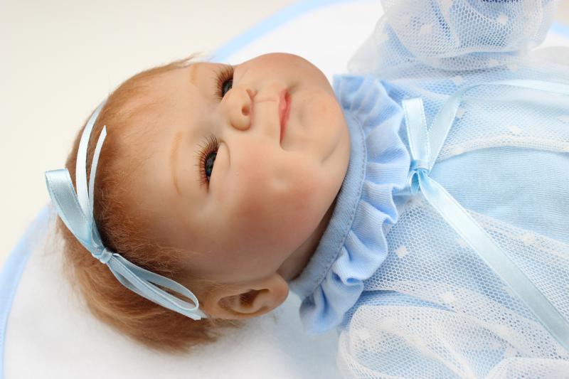 45 cm noir réaliste Silicone Reborn poupées pour filles douce poupée nouveau-né bébé poupée noël anniversaire réaliste bébé cadeaux