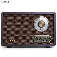 Radio FM/AM de doble banda de madera antigua Vintage clásico retro Home escritorio Radio Bluetooth altavoz