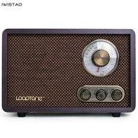 FM/AM Dual Band Radio Antique Wood Vintage Classical Retro Home Desktop Radio Bluetooth Speaker
