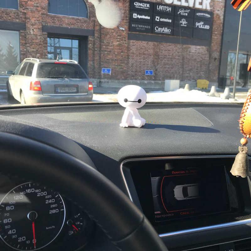 Мультяшный пластиковый робот Baymax, качающаяся голова, фигурка автомобиля, украшения для салона автомобиля, большой герой, кукла, игрушки для интерьера, аксессуары