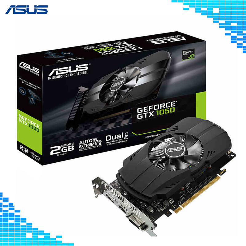 Asus PH-GTX1050-2G D5 Boost 1455MHz 128bit GDDR5 PCI Express 3.0 16X Game Graphics Cards lan baoshi сапфир rx550 2g d5 platinum edition oc 1206mhz 7000mhz 2gb 128bit gddr5 dx12 независимой игровой графики