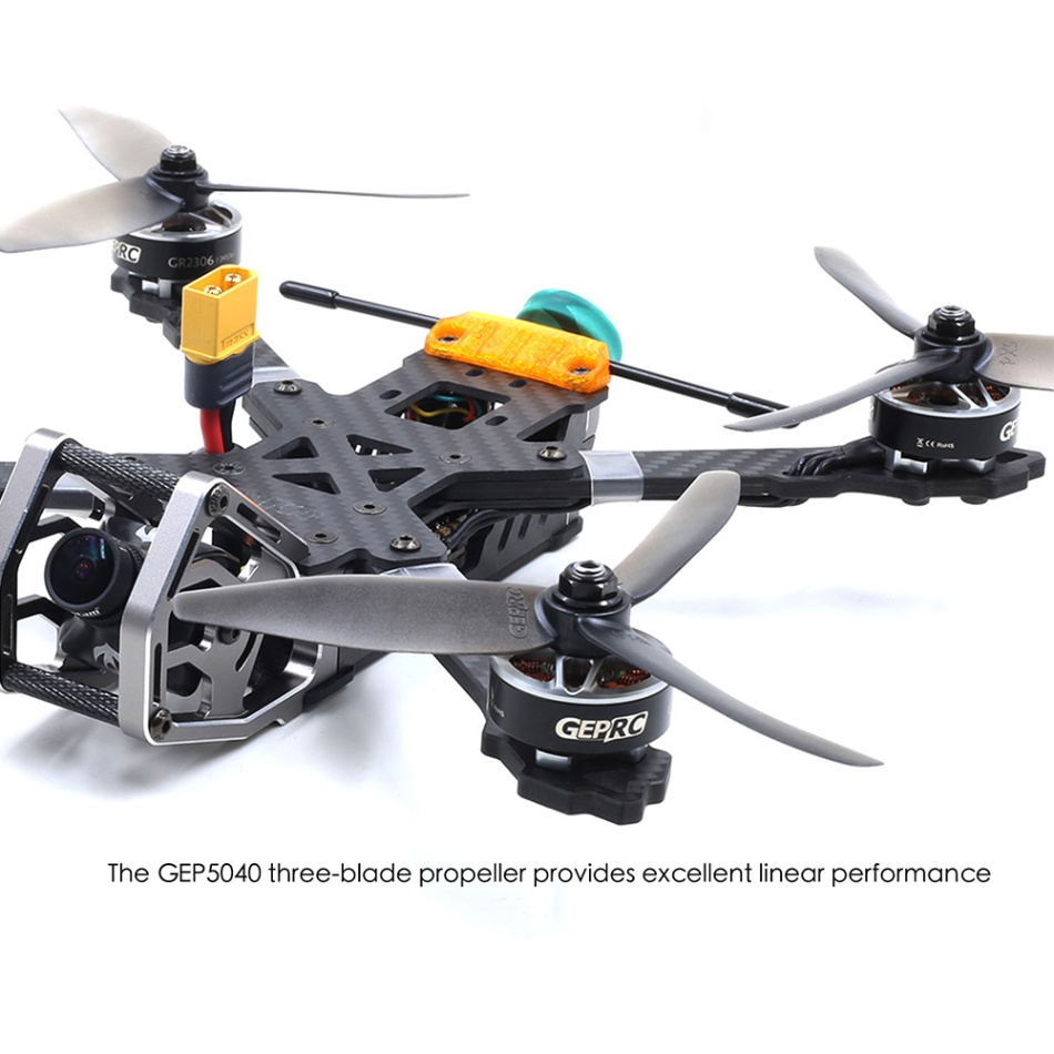 GEPRC KHX5 Elegant 230 มม.GR2306 2450KV 5.8G 48CH SPAN F4 Tower AIO RC Freestyle FPV Racing Drone PNP /Frsky R XSR BNF PNP-ใน เฮลิคอปเตอร์ RC จาก ของเล่นและงานอดิเรก บน   3
