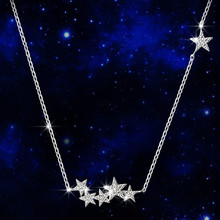 Sterling 925 Stars Silver Necklace Long Chain Jewelry for Women Gift necklaces gothic