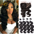 Top quality8a Grade Lace Frontal Closure With Bundles Rosa Hair Products Malaysian Body Wave Virgin Hair Human Hair With Closure