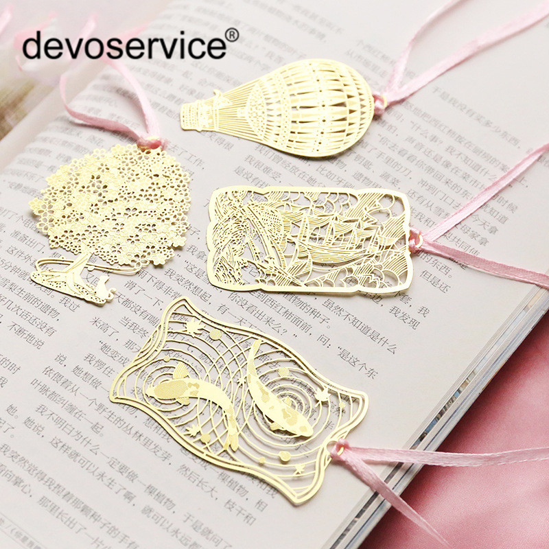 Chinese Style Hollow Bookmark Creative Mini Bookmark Book Page Folder Gift