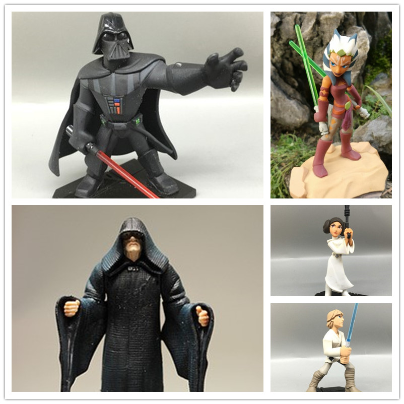 1pcs Original Star Wars Action Figure Star Wars Toys Darth Vader Luke Skywalker Princess Leia Villain Palpatine Ahsoka Tano 1pc building blocks star wars figures luke skywalker kanan han solo death trooper darth vader action bricks kids diy gift toys