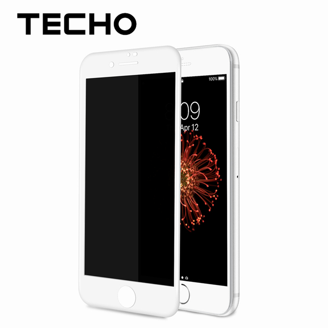 detailed look c8fcf 3de0a US $15.0 |TECHO Black White Glass Privacy Screen Protector Anti Peeping  Shield For iPhone 6 6s 7 8 Plus Cellphone Full Cover Film-in Phone Screen  ...