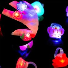 Kids Toys Finger-Ring Party Gift And Cartoon Led 5PCS Festival Birthday Colorful Nice