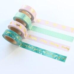 Domikee милые сусального золота Студент лента для декорации Washi для планировщик канцелярские товары, тонкая декоративная изоляционная лента д...