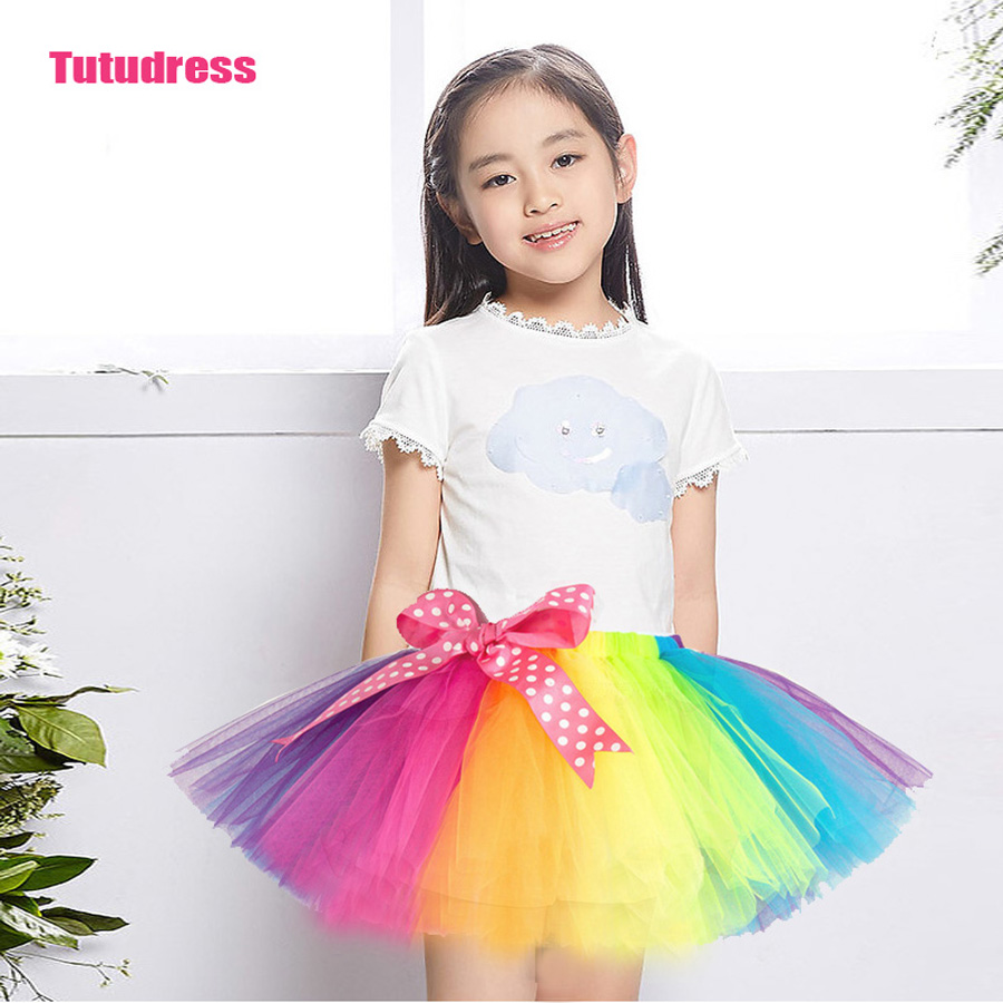 2018 Spring Autumn Mesh Long Baby Tutu Skirt More Color Princess Girls Skirts 2-12 Age Children Clothing Tutu Pettiskirt