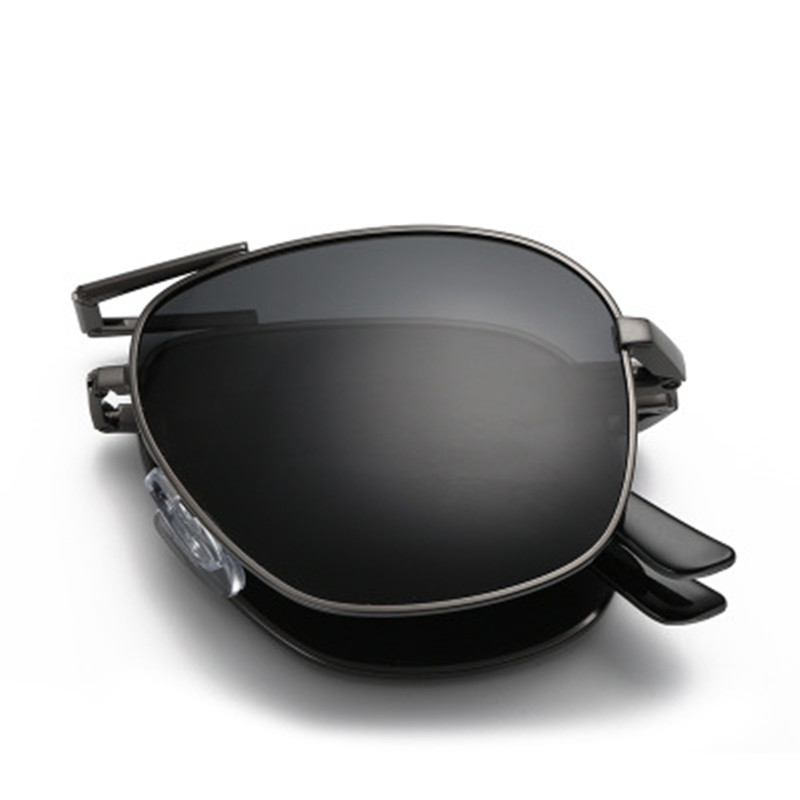 Olvio Vintage Folding Pilot Sunglasses Men Polarized Fashion Brand Designer Foldable Glasses Mirrored Sun Glasses For Men Oculos-in Men's Sunglasses from Apparel Accessories