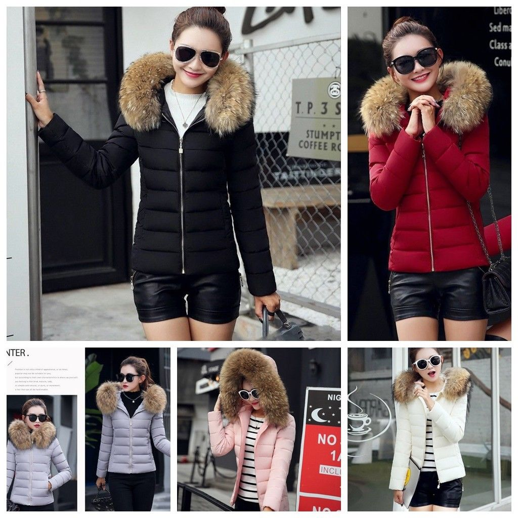 Long Sleeve Winter Thick Cotton Jacket Women Fashion Slim Windproof Warm Jacket Coat
