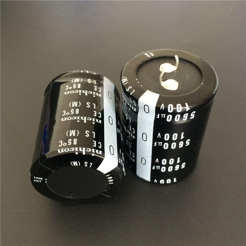 2pcs 5600uF 100V NICHICON LS Series 35x45mm High Quality 100V5600uF Snap-in PSU Aluminum Electrolytic Capacitor2pcs 5600uF 100V NICHICON LS Series 35x45mm High Quality 100V5600uF Snap-in PSU Aluminum Electrolytic Capacitor