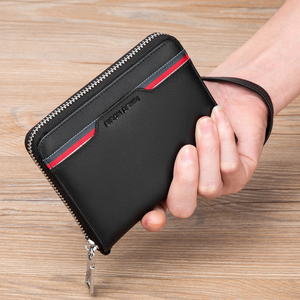 Image 2 - BISON DENIM Genuine Leather Wallet Male Business Credit Card Holder Wallet Multi functional Coin Wallet Purse Small Wallet N9481