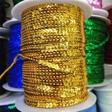 String Sequin Trim Golden Paillette Crafts Flake 3mm for Ribbon DIY 10yard