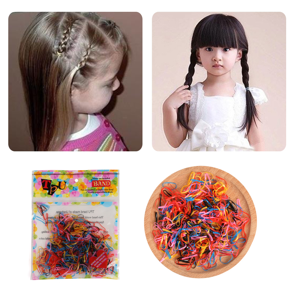 400 Pcs/lot Elastic Hair bands Ponytail Holder Rubber Hair Elastic Accessories for Girls ...