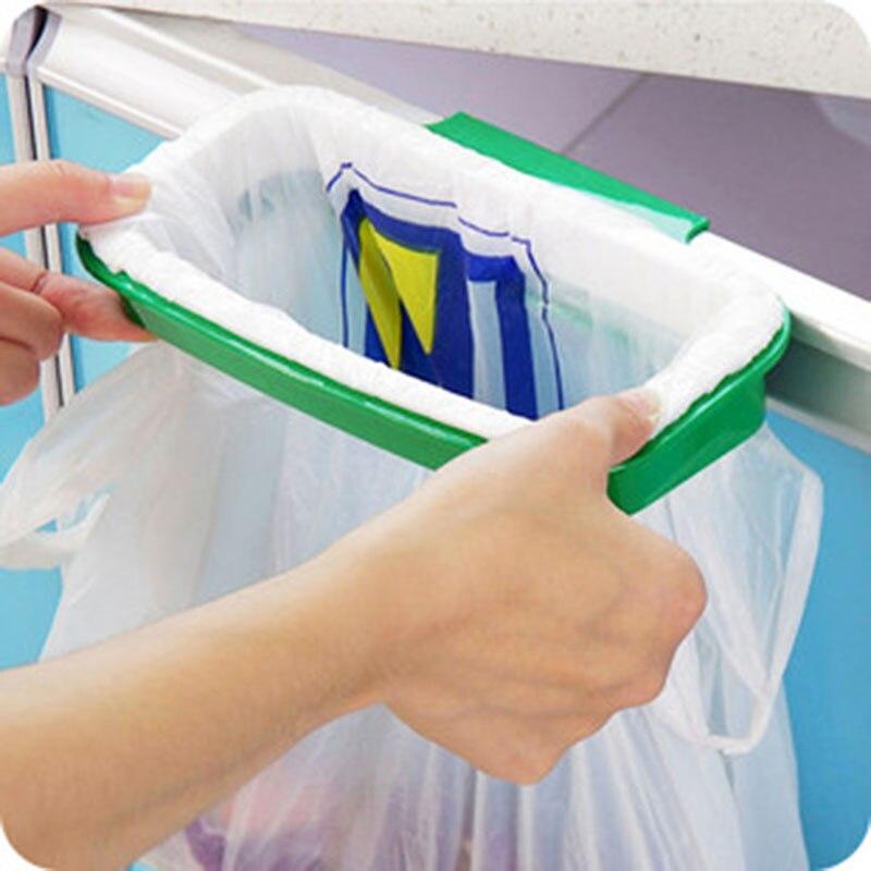 Útil Durable Bolsas De Basura De Cocina Rack de Almacenamiento de Plástico Colga