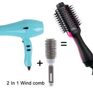 Image 3 - 2 in 1 Wind Hot Hair Comb Negative Ion Hair Comb Curler Straight Hair Dryer Multifunctional Shape Massage Comb Curling Iron