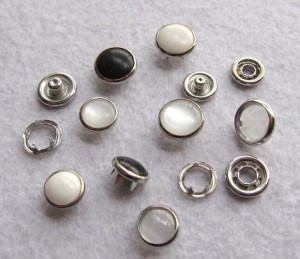 2018 Sale Top Fashion Botones Scrapbooking Diy 100sets/lot 10/12/15mm 4 Part Buttons White Pearl Prong Snap Button Fastener