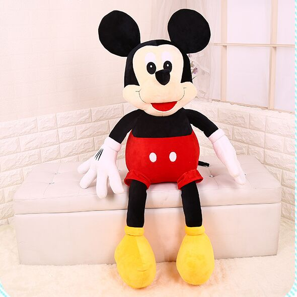 cute Mickey plush toy soft doll throw pillow, baby toy birthday gift b1000 cute cartoon ladybird plush toy doll soft throw pillow toy birthday gift h2813