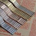 Смешанные цвета Серебро золото Rosegold Ремешки для кварцевые часы аксессуары 18 мм 20 мм 22 мм ремни браслет Тоньше Складывающиеся застежка