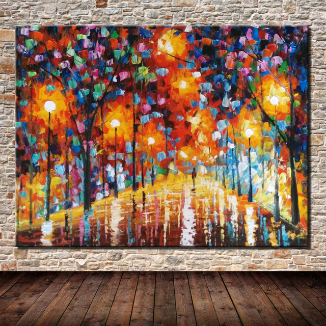 Hand Painted The Bright Light Paintings Palette Knife