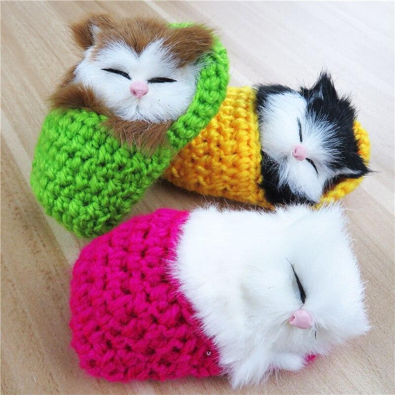 Super Cute Simulation Sounding Shoe Kittens Cats Plush ...