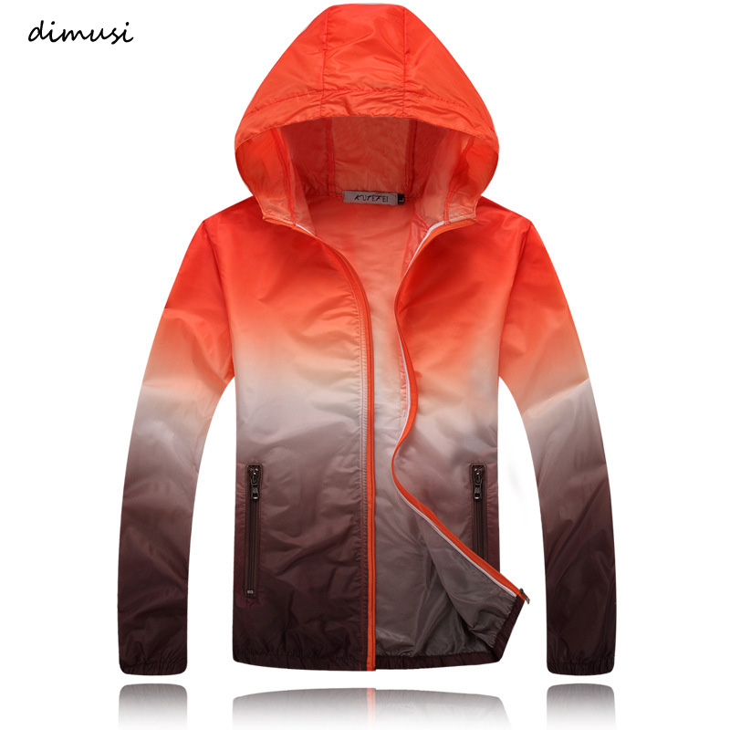 DIMUSI SummerQuick Dry Men Windbreaker Skin Coat Sunscreen Waterproof Mens Army Outwear Ultralight Windbreake Jacket 4XL,YA600
