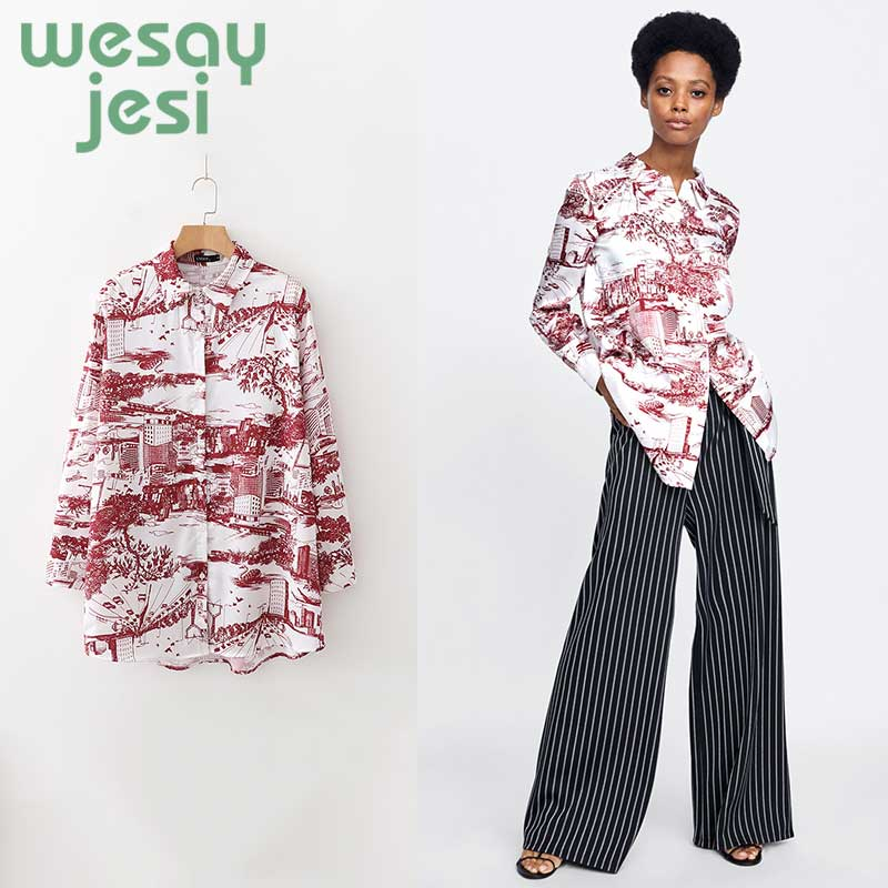 Casual Womens Long Sleeve Shirts Clothes 2019 new Fashion Autumn Winter Street Wear Female Long Harajuku Blouses tops in Blouses amp Shirts from Women 39 s Clothing