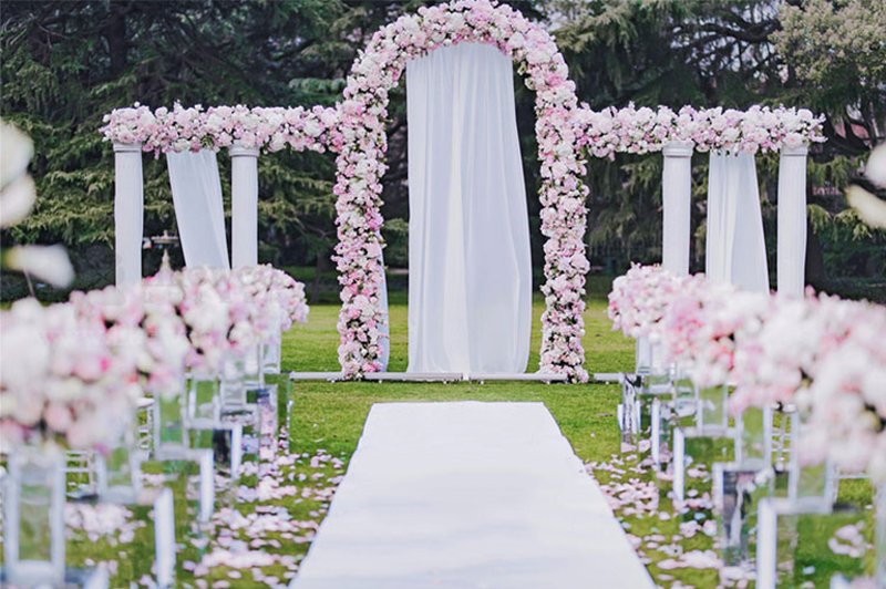 JAROWN Artificial 2M Rose Flower Row Wedding DIY Arched Door Decor Flores Silk Peony Road Cited Fake Flowers Home Party Decoration Maison (37)