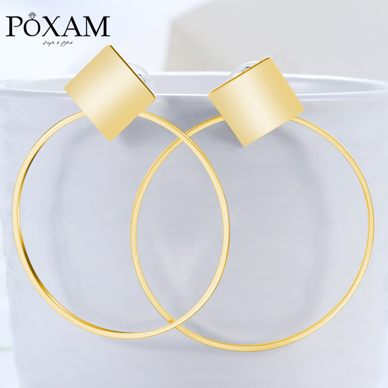 Big Circle Statement Drop Earrings For Women 2019 Fashion Jewelry Vintage Round Gold Female Hanging Earring Oorbellen Brincos