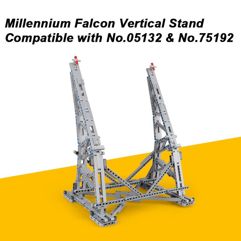 MOC Millennium Falcon Vertical Affichage Stand Compatible avec Modèle de No 05132 et No 75192 Ultimate Collector avec Papier Manuel