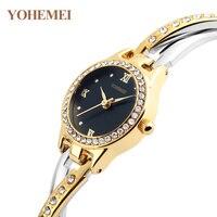 YOHEMEI Fashion Casual Bracelet Watch Women Watches Party Ladies Girls 2017 Quartz Wrist Watch Female Clock