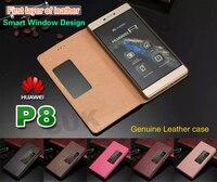 הטלפון הנייד המקורי Huawei P8 חלון מגנטי חכם עור כיסוי Case Flip Huawei Ascend מגן שינה ShellSkin P8