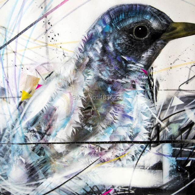 Blau vogel ölgemälde moderne dekoration wandbehänge leinwand tier ...