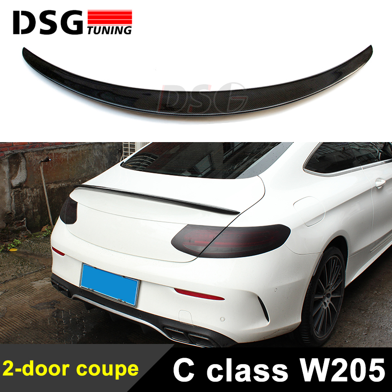 a205 c205 carbon fiber rear trunk spoiler rear spoiler. Black Bedroom Furniture Sets. Home Design Ideas
