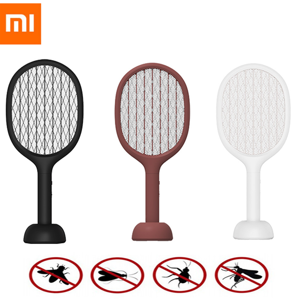 XIAOMI MIJIA SOLOVE Electric Mosquito Swatter P1 Smart Mosquito Killer Portable Handheld Insect Fly Bug Traps Outdoor Indoor