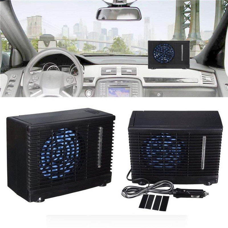 12V 35W Portable Mini Home Car Cooler Cooling Fan Water Ice Evaporative Air Conditioner Black