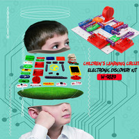 kids toys for boys girls solar toy car diy W 9889 Child Learning Circuit Electronic Discovery Kit DIY Building Block Toy