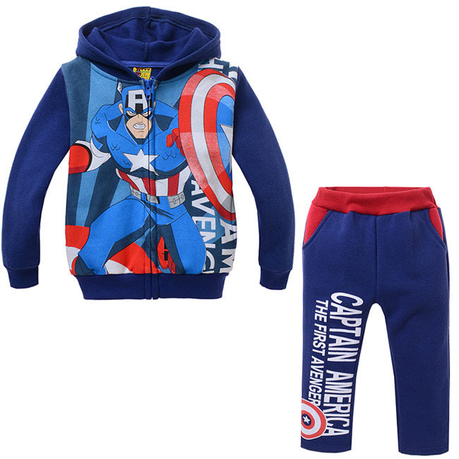 New 2018 Boys Clothing Suit Cartoon Kids Boys Outwear Children Cotton Hoodies And Pant Children's Clothes Sets For Spring Autumn 2015 new autumn winter warm boys girls suit children s sets baby boys hooded clothing set girl kids sets sweatshirts and pant