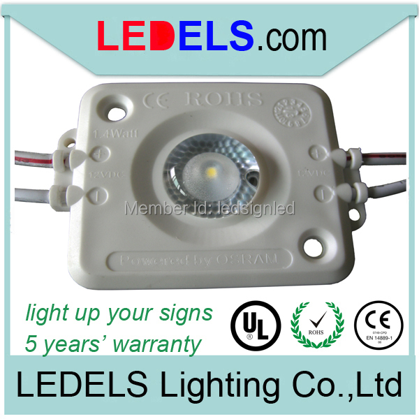 1.6w NICHIA/Osram waterproof led module high power module for light box ul signage modules led