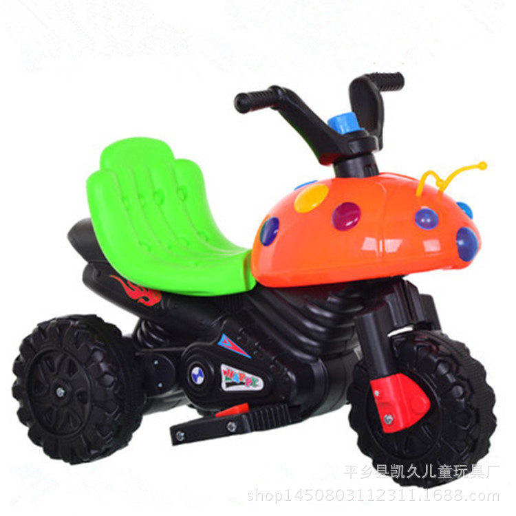 Nine Light Beetle Children Rechargable Single Drive Electric Motorcycle Baby Battery Car Tricycle Music Lighting