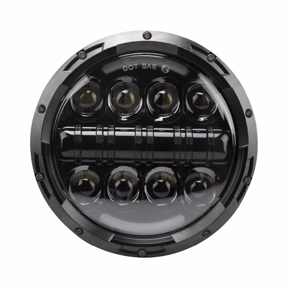 For Jeep Wrangler Defender Led Headlight 7inch Round High Low Beam DC 12v 24v External Lights headlamp For Lada 4x4 urban Niva 1pair 30w 7inch headlamp car headlight 7 high low beam led head light for jeep wrangler