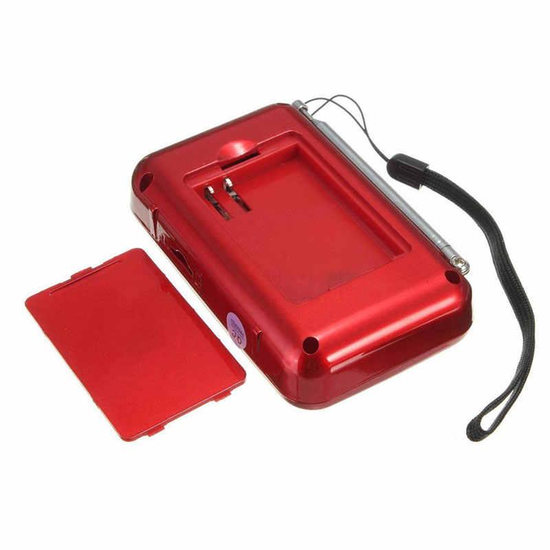 HAOBA ポータブル FM ラジオサポート MP3 音楽 TF/SD カード Lcd ディスプレイラジオ
