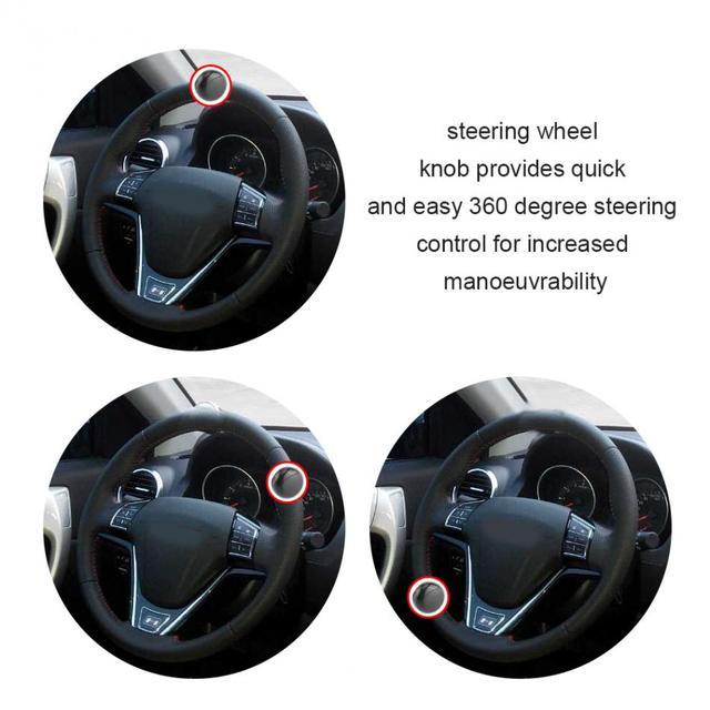 steering wheel spinner knob ball black universal car heavy duty