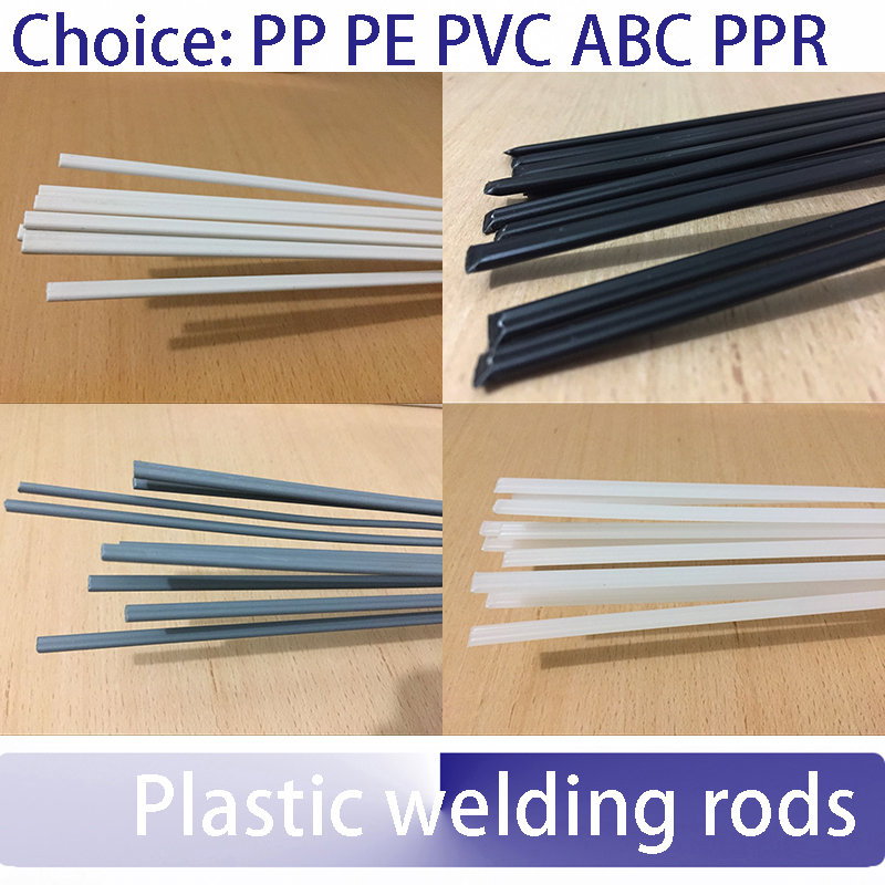PP plastic welding rods flat strips polyethylene black pack of 10-60 pieces