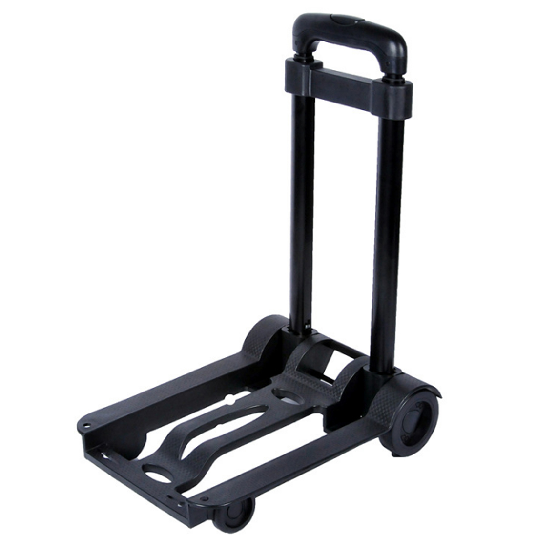 цена на 2018 New Foldable Portable Trolley Wheel Shopping Baggage Cart With Draw-Bar For Shopping Home Travel - Black